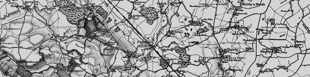 Old map of Aby Grange in 1899
