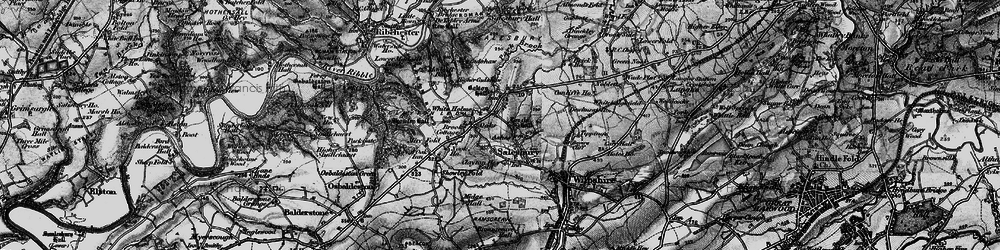 Old map of White Holme in 1896