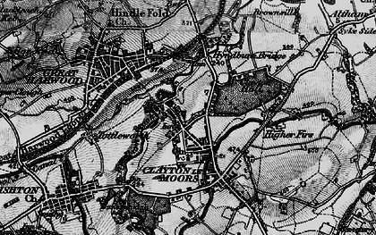 Old map of Clayton-Le-Moors in 1896