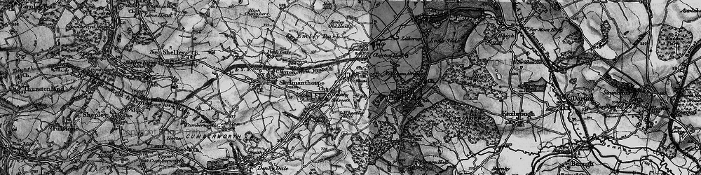 Old map of Clayton West in 1896