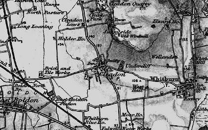 Old map of Cleadon in 1898