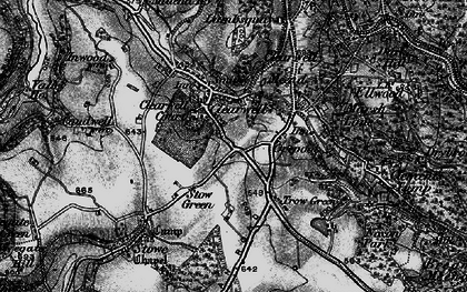 Old map of Clearwell in 1896