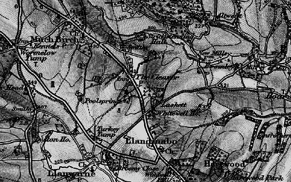 Old map of Whitewell Ho in 1896