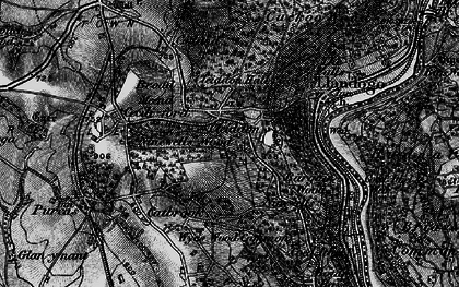 Old map of Bargain Wood in 1897