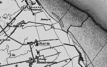 Old map of Cleethorpes Zoo in 1895