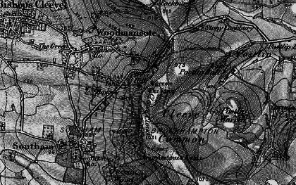 Old map of Cleeve Hill in 1896