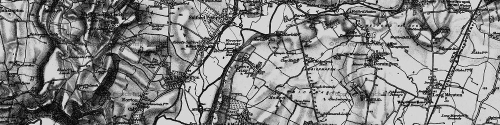 Old map of Cleeve Prior in 1898