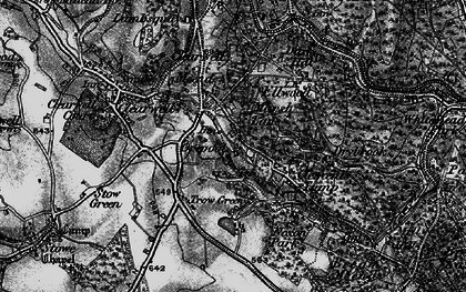 Old map of Clements End in 1896