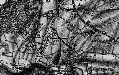 Old map of Clench Common in 1898