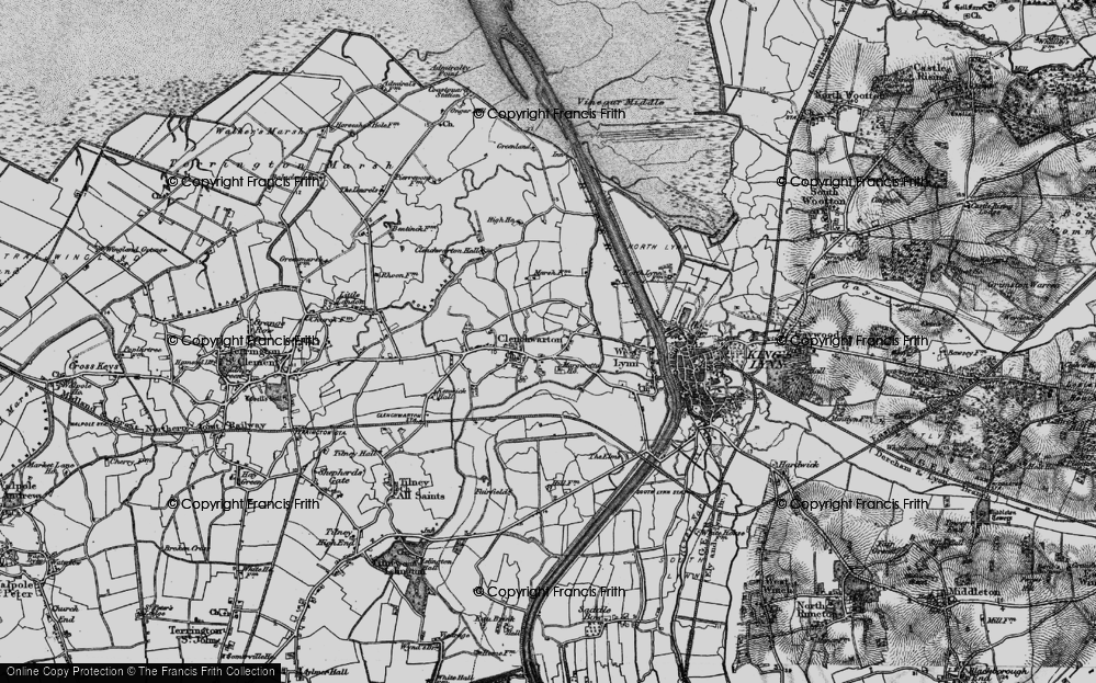 Old Map of Historic Map covering Banklands in 1893