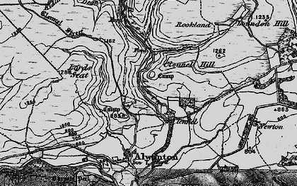 Old map of Allerhope Burn in 1897