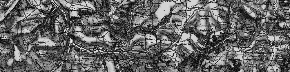 Old map of Whitley in 1895