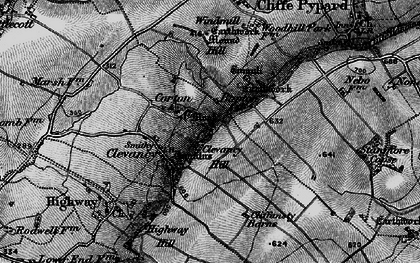 Old map of Woohill Village in 1898