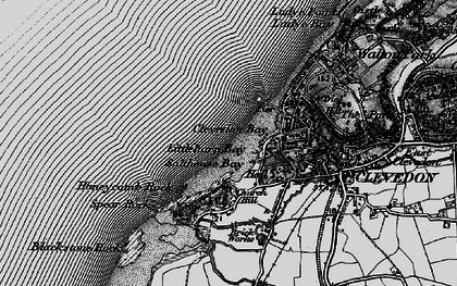 Old map of Clevedon in 1898