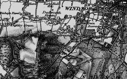 Old map of Clewer Green in 1896