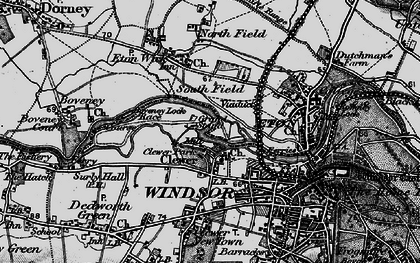 Old map of Clewer Village in 1896