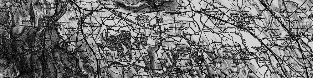 Old map of Woodside in 1897