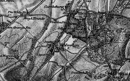 Old map of Audleys Wood in 1895