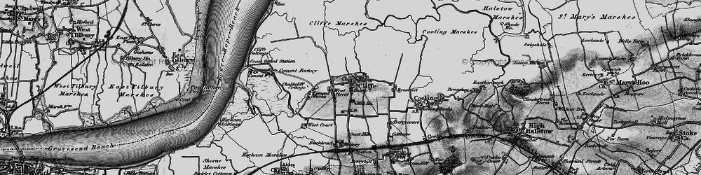 Old map of Cliffe in 1896