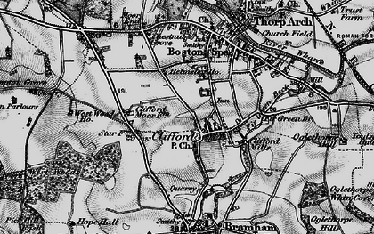 Old map of Clifford in 1898