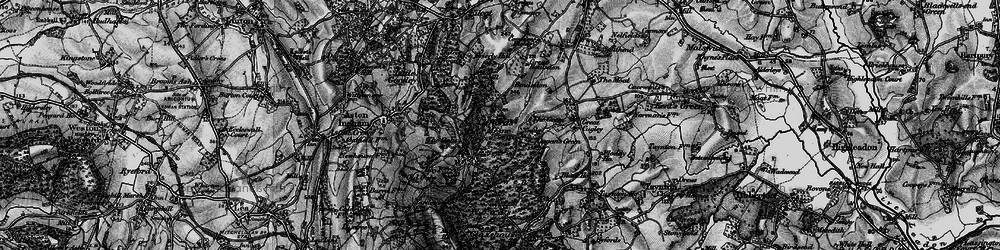 Old map of Woodgate in 1896