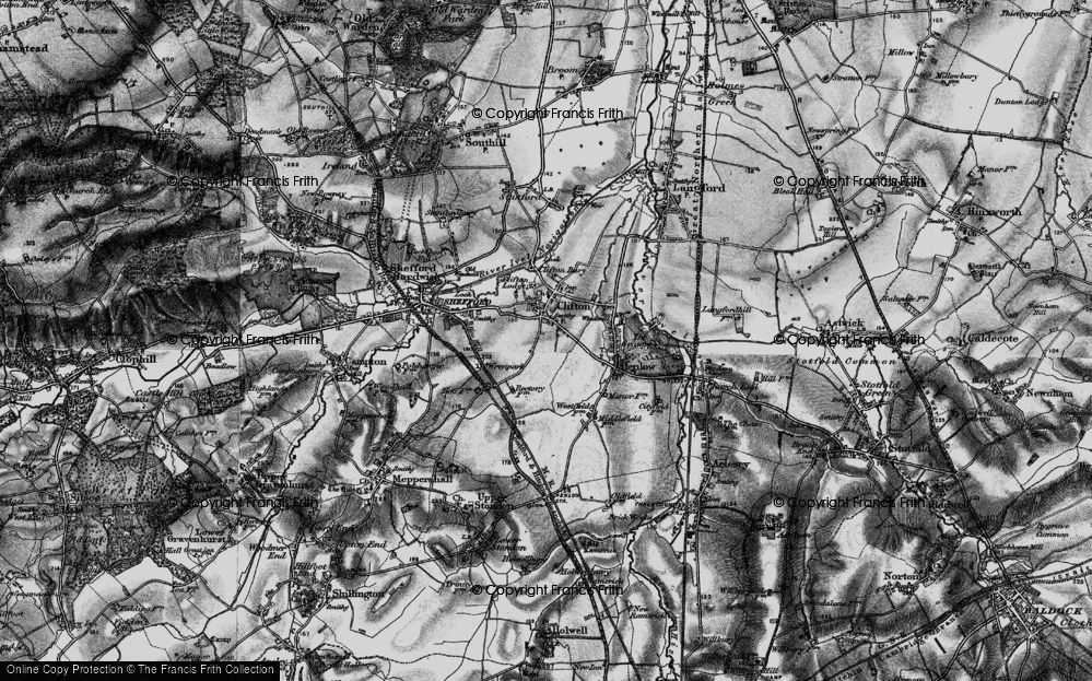 Old Map of Historic Map covering Wren Park in 1896