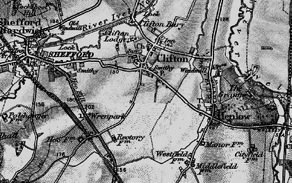 Old map of Clifton in 1896