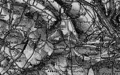 Old map of Weston Moor in 1898
