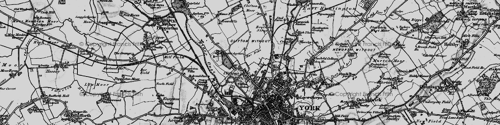 Old map of Clifton in 1898