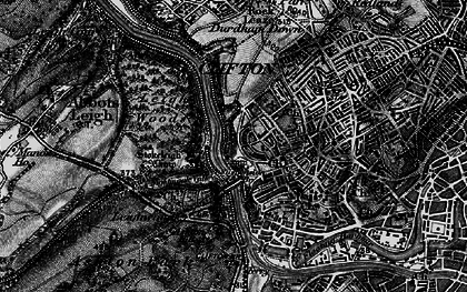 Old map of Avon Gorge Nature Reserve in 1898