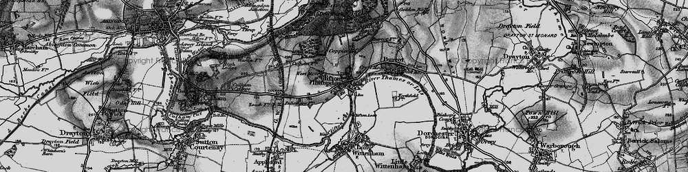 Old map of Clifton Hampden in 1895