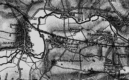 Old map of Lavendon Mill in 1896