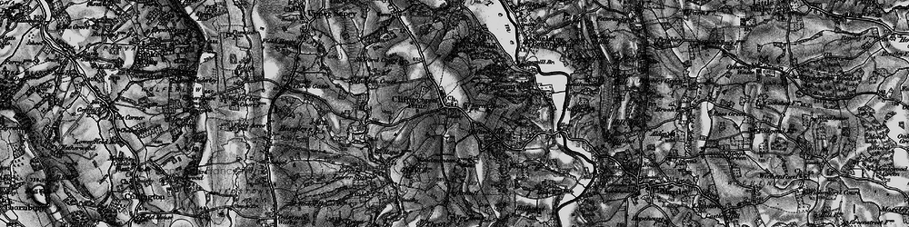 Old map of Clifton upon Teme in 1898