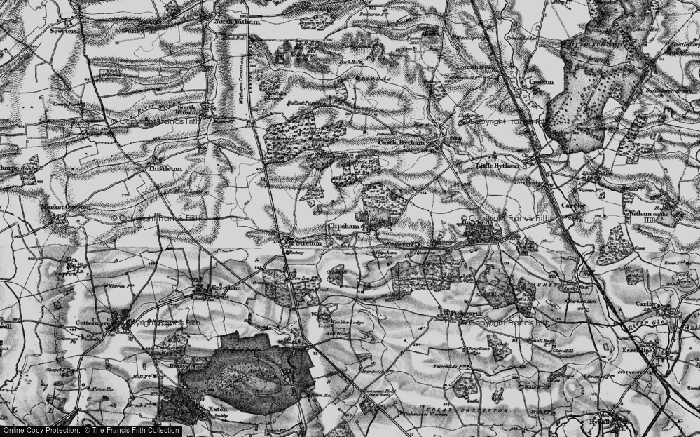Old Map of Historic Map covering Addah Wood in 1895