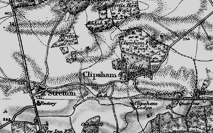 Old map of Addah Wood in 1895