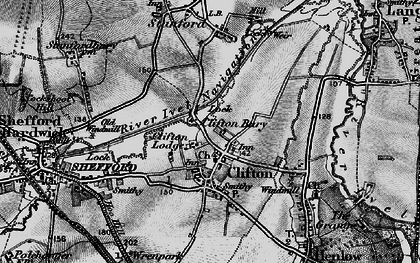 Old map of Cliton Manor in 1896