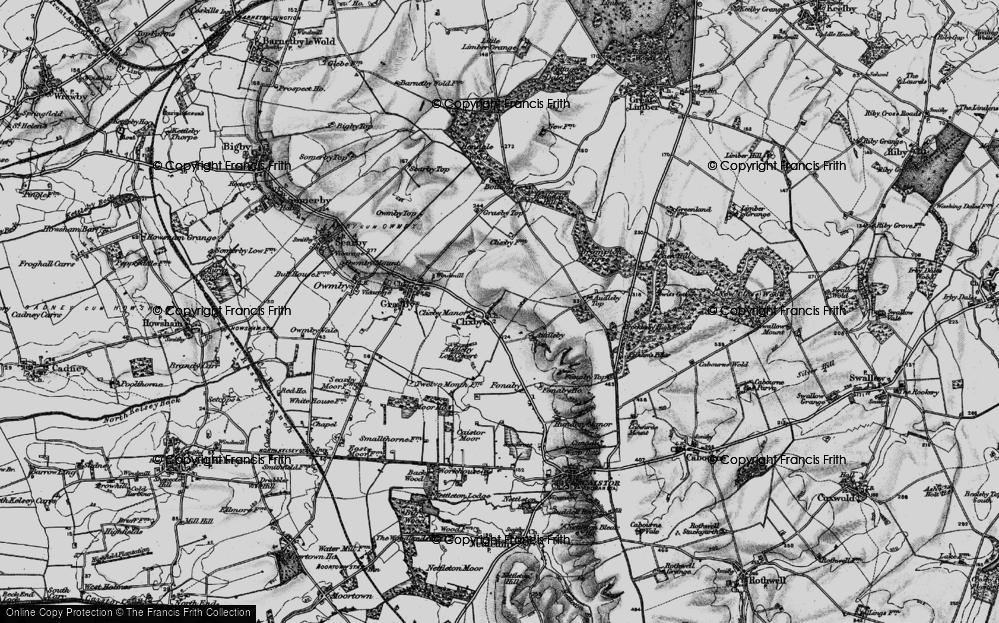 Old Map of Historic Map covering Audleby Low Covert in 1898
