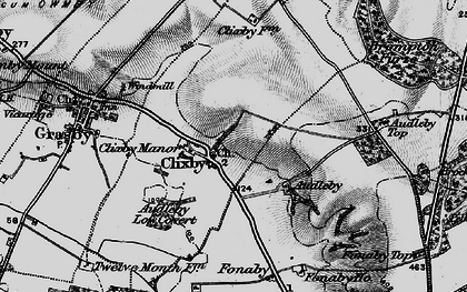Old map of Audleby in 1898