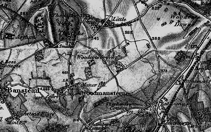 Old map of Woodcote Grove Ho in 1896