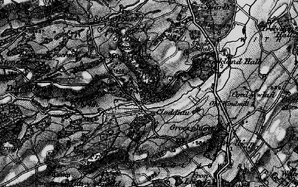 Old map of Y Golfa in 1897