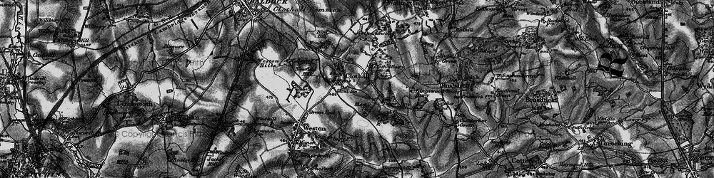 Old map of Westfield Common in 1896