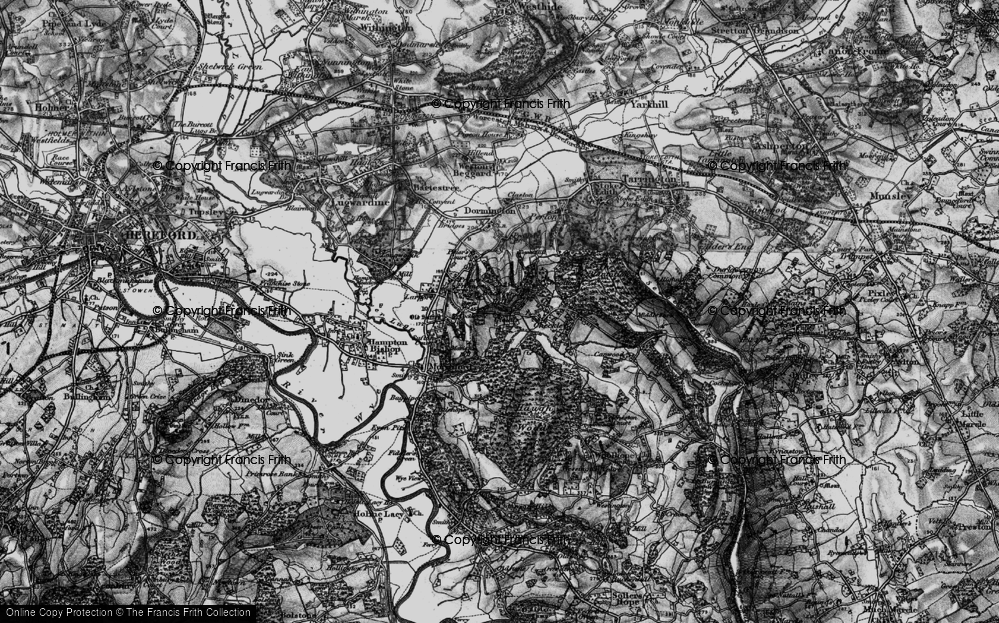 Old Map of Historic Map covering Backbury Hill in 1898