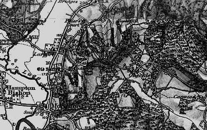 Old map of Backbury Hill in 1898