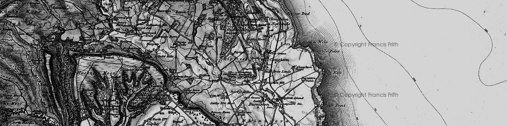 Old map of Lindhead Gorse in 1897
