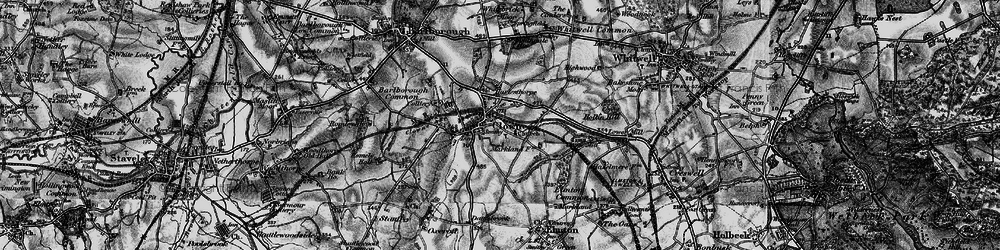 Old map of Clowne in 1896
