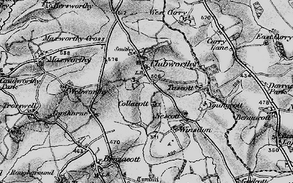 Old map of Winsdon in 1895