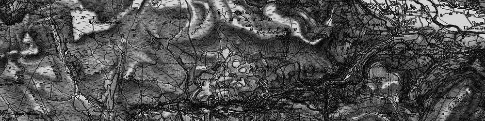 Old map of Agen Allwedd in 1897