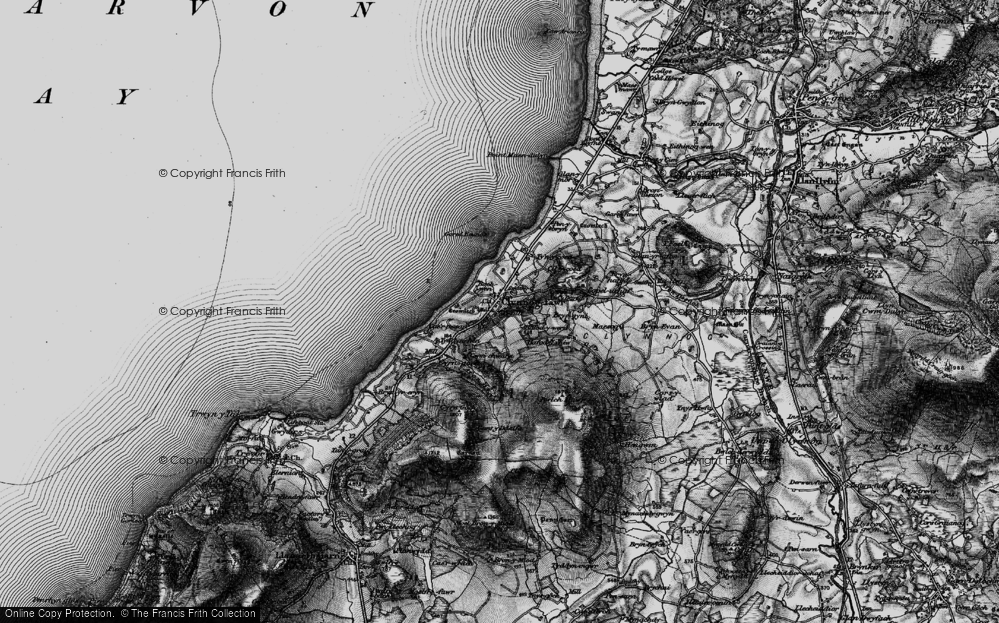 Old Map of Historic Map covering Bach Wen in 1899