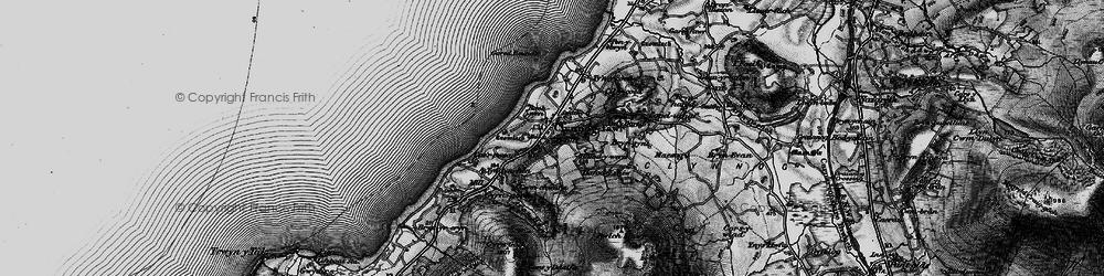 Old map of Clynnog-fawr in 1899