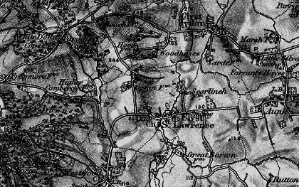 Old map of Woodhayes in 1898